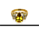 Sphene Gold Ring