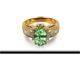 Vanadium-Chrysoberyll Gold Ring