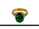 Chrome Tourmaline Gold Ring